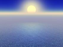horyzontu oceanu na słońcu Obraz Royalty Free
