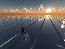 horyzontu przyszłościowy słońce ilustracji