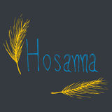Hosanna hand drawn illustration | Christianity lettering background Stock Photography