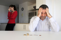 Hosband and wife having financial problems Stock Photo