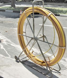 Hose. Huge water hose for road construction Stock Photos