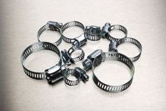 Hose clamp assortment Stock Images