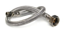 Hose flexible metal braid Stock Photos