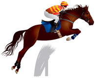 Hose race jump Stock Images