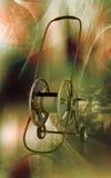 Hose reel trolley. Digital illustration of hose reel trolley in colour background Stock Photo