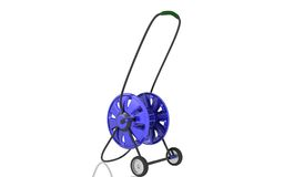 Hose reel trolley. Digital illustration of hose reel trolley in isolated background Royalty Free Stock Images