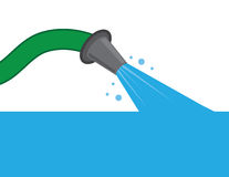 Hose Water Filling Up vector illustration