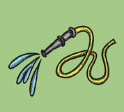 Hose with water splash, doodle  illustration Royalty Free Stock Photography
