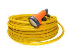 Hose for watering the garden with the spray Royalty Free Stock Photography