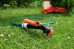 Hose watering Stock Image