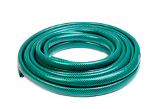 Hose for watering isolated on a white Stock Image