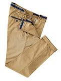 Hosen für die Männer lokalisiert auf einem weißen Hintergrund mit Beschneidungspfad Stockfotos