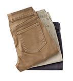 Hosen für die Männer lokalisiert auf einem weißen Hintergrund mit Beschneidungspfad Stockbild