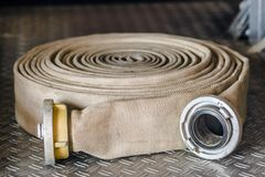 Hoses of firefighters Royalty Free Stock Image