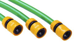 Hoses for watering Stock Images