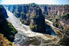 Hoseshoe на Victoria Falls стоковые изображения rf