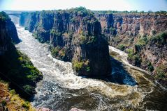 Hoseshoe at Victoria Falls royalty free stock images