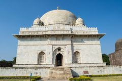 Hoshang Shah Mausoleum Mandu. Hoshang Shah White Marble Mausoleum Entrance in the Historic City of Mandu Mandav near Indore Madhya Pradesh India . Historic stock image