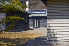 Hoshino Hot Springs in Karuizawa,Japan. Karuizawa,Japan - 30,March,2015 : Hoshinoya Karuizawa  Spa offers a new style of Toji,People in Karuizawa discovered the Stock Photography