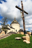 Hoshivskyy monastery in Transcarpathia. Royalty Free Stock Photography