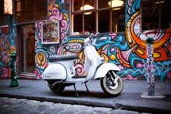 Hosier Lane i Melbourne Arkivbilder