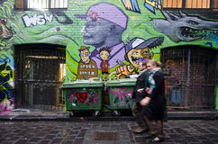 Hosier Lane - Melbourne Foto de Stock Royalty Free