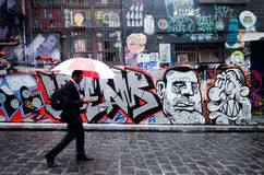 Hosier Lane - Melbourne arkivbild