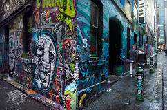 Hosier Lane - Melbourne arkivbilder