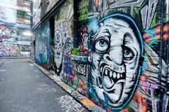 Hosier Lane - Melbourne Arkivbilder