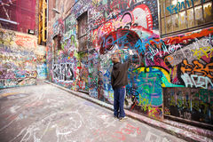 Hosier Lane melbourne Royaltyfria Foton