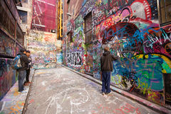Hosier Lane melbourne Arkivbild