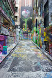Hosier Lane  - Melbourne Royalty Free Stock Photos