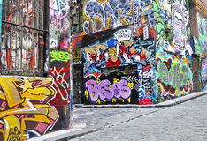 Hosier lane street art in Melbourne Stock Photography