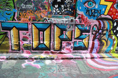 Hosier lane street art is one of the major tourists attraction in Melbourne Royalty Free Stock Image