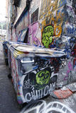 Hosier lane street art is one of the major tourists attraction in Melbourne. Royalty Free Stock Image
