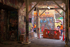 Hosiersgränd Melbourne Australien Arkivfoton