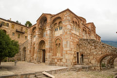 Hosios Loukas. DISTOMO, GREECE - OCTOBER 30, 2015: Hosios Loukas monastery is one of the most important monuments of Middle Byzantine architecture and an UNESCO Stock Photos