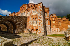 Hosios Loukas Monastery i Boeotia, Grekland Arkivfoto