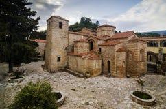 Hosios Meletios kloster i Attica, Grekland Royaltyfria Foton