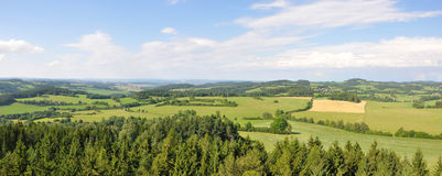 Hoslovice lookout view Royalty Free Stock Photography
