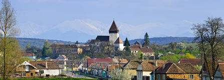 Hosman village in Transylvania, Romania Royalty Free Stock Photo