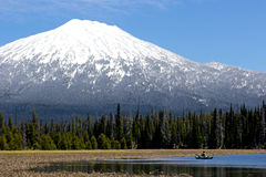 Hosmer Lake Oregon Fishing Royalty Free Stock Photo