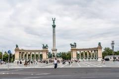 Hosok tere in Boedapest royalty-vrije stock fotografie