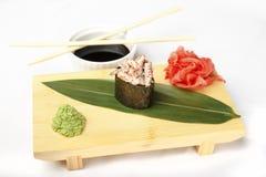 Hosomaki, Geisha poppies, scallop, tobiko caviar, mayonnaise Stock Photography