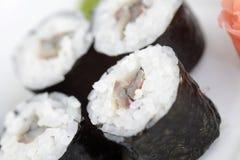 Hosomaki, sardine. Traditional japanese sushi rolls. Hosomaki, sardine. Traditional japanese food Stock Photography