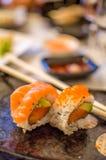Hosomaki sushi and chopstick Stock Photography