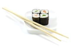 Hosomaki sushi. Isolated on white background Royalty Free Stock Photos
