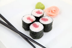 Hosomaki, tuna. Traditional japanese sushi Stock Images