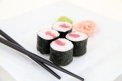 Hosomaki, tuna. Traditional japanese sushi rolls Stock Image