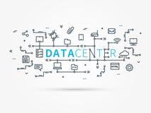 Hospedando a infraestrutura que conecta com o sistema do servidor Imagens de Stock